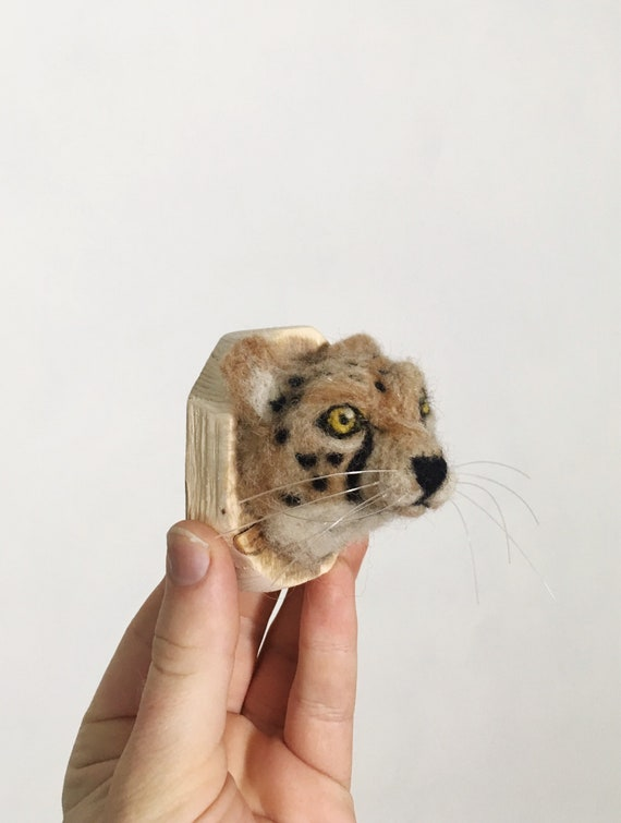 Wool Cheetah Sculpture