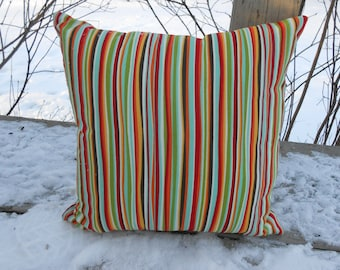 """Decorative Throw Pillow with Stripes 14"""""""