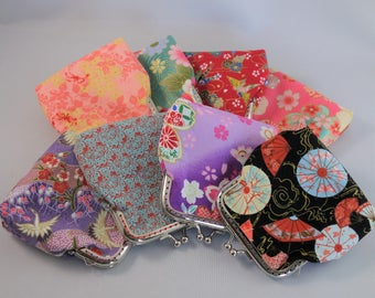 Frame coin purse, Japanese coin purse, Kiss lock, Wallet, One of a kind
