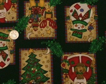 Everything Christmas Green Christmas Fabric Sold by the Half Yard