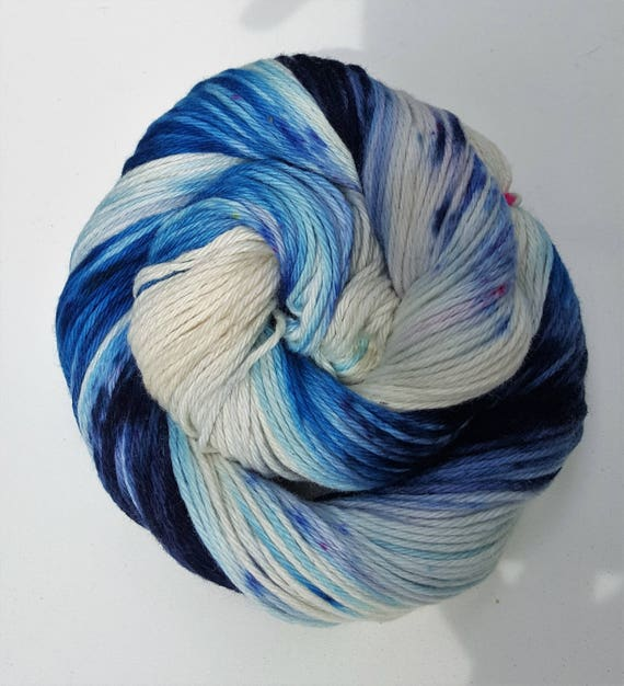 Use The Good China- 100 Cotton, Hand Dyed, Variegated, Speckled, Hand Painted Yarn