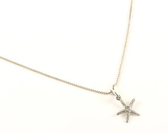 Vintage Star Starfish Design Necklace 925 Sterling Silver NC 1221