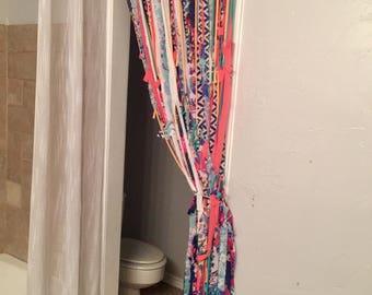 Gypsy Curtains, Colorful Drape, Bohemian Door, Fabric Door