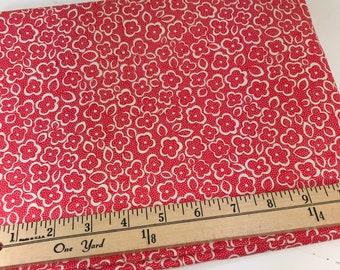 Red Posy, Red Flowers, Katie Jump Rope, Denyse Schmidt, Free Spirit Fabrics, 1 Yard