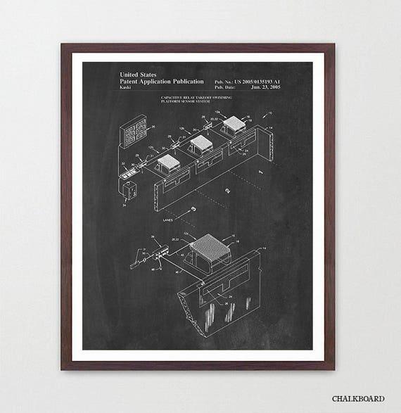 Swimming Patent - Swimming Starting Block - Goggles Patent - Swimming Poster - Swimming Art - Swimming Poster - Pool - Pool Art - Swimmer