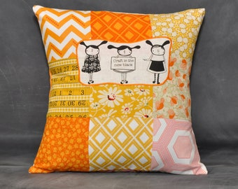 Craft is the new black pillow