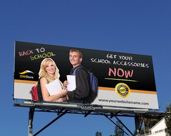 Printable Back to School Billboard | Billboard Template | Billboard Editable| Photoshop Template | Instant Download