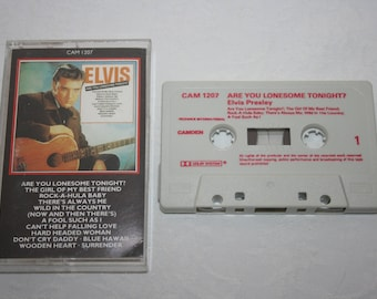 Vintage Music Cassette Tape, Elvis, Are You Lonesome Tonight?, Pickwick International