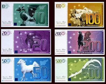 Slovenia (Dezela Kranjska) Set, 10-20-50-100-200-500 Talerjev, 2007 Commemorative