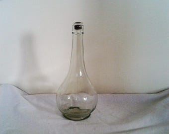 Vintage Clear Glass Decanter - Genie Bottle