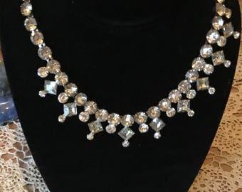 Weiss Co. N.Y. Rhinestone chocker necklace