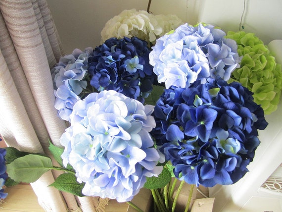 Silk hydrangea flower 10 stem real size artificial hydrangea like this item mightylinksfo Image collections