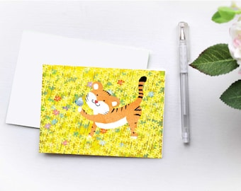 Folded Tiger Notecard 6pack