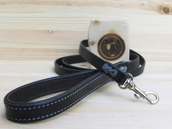 Black Dog Leash, Leather Dog Leash, Custom Lenght and Width, Strong Dog Leash, Custom Dog Leash, Dog Lead, Handmade Soft Grip Dog Leash
