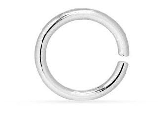 Twist and Lock Jump Rings Sterling Silver 14ga 10mm - 5 Pcs (10591)/1