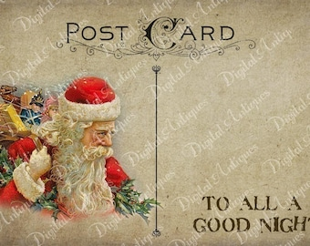 Christmas Postcards Vintage Printable Digital Download