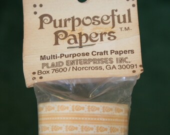 Purposeful Papers Brand Multi-purpose Craft Paper, Miniature Wallpaper, Dollhouse Wallpaper, one roll