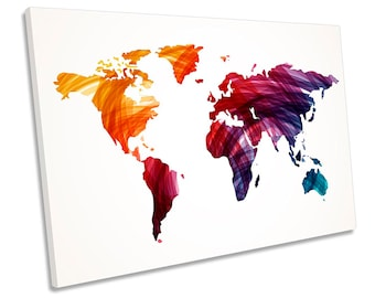 Abstract world map etsy map world grunge multi colour framed single canvas print wall art gumiabroncs Gallery