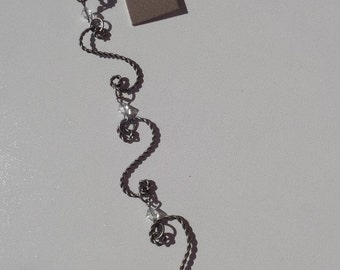 """SALE! 8"""" Strand, Lightweight, Scroll, Antique Silver, only one available, S23"""
