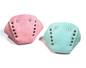 Mismatched Suede Roller Skate Toe Caps (Any 2 Colors)