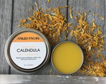 Calendula Salve | Healing Herbal Salve | All Purpose Salve | All Natural Salve | Natural Skin Care | Healing | Herbal Remedy