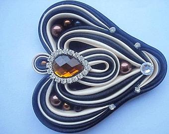 Kanzashi Brooch, Jewellery, Satin Fabric Brooch, Brooch, Folded Silk Brooch, Ribbon art, Woman Accessory.