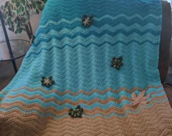 Crochet Sea Turtle Blanket / Afghan