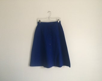 1980s preppy hipster country club high waisted a line skirt
