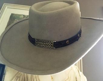 VINTAGE COWBOY HAT, Eddy Bros. Cowboy Hat, Eddy Bros. Hat, Cowboy Hat, Wool Cowboy Hat, Leather Hatband, Sz 6 7/8 Cowboy Hat, Beige Cowboy H