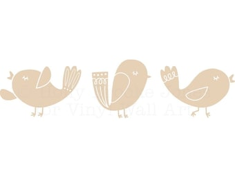 Song Bird Wall Decals (Set of 3) SMALL