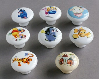 Drawer Knobs Door Knobs Children Room Disney Cartoon Characters Knobs Variety Picture 155