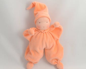 "Waldorf doll, waldorf baby doll, waldorf toys, soft dolls 8"", bunting baby (made to order)"