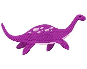 Purple Dinosaur Machine Embroidery Design - Instant Download