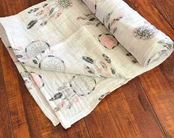 Dream Catcher Muslin Gauze Swaddle Blanket