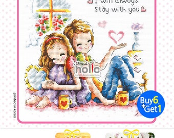 SO-356  By Your Side, sodastitch cross stitch chart