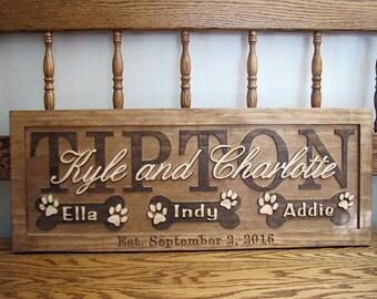 wood dog bone sign etsy