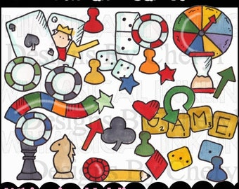 Fun and Games Clipart Collection - Immediate Download