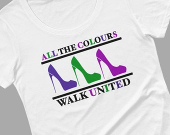 Unity t-shirt, end racism, end discrimination, empowerment shirt, inclusion, quote tee, gift for shoe lover, inspirational apparel