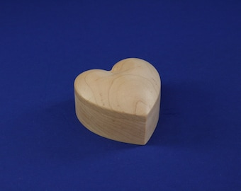 Heart Shaped Maple Wooden Ring Box