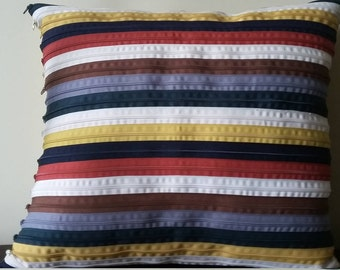Multicolor striped Pillow Made in Italy