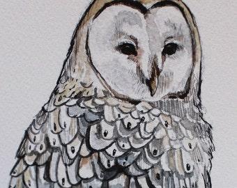 """Barn Owl (print) - 8"""" x 10"""""""