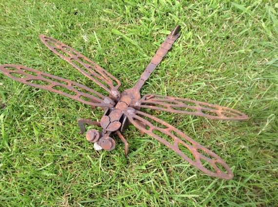 Rusty 3D Dragonfly / 3D Metal Dragonfly / Dragonfly Gift