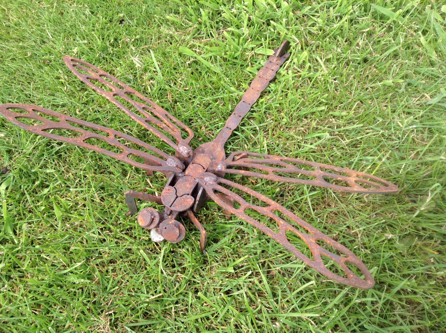 Rusty 3D Dragonfly / 3D Metal Dragonfly / Dragonfly gift /