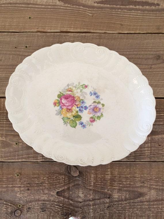 & Vintage 1868 Thompsonu0027s Old Liverpool Ware Platter