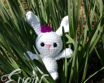 Crochet Gift Bunny, Crochet Bunny plush, Easter bunny, gift, Stuffy, Bunny Plush, Stuffie, baby gift, cuddle bunny, amigurumi