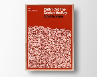 Dock of the Bay Song Lyric Print, Otis Redding poster