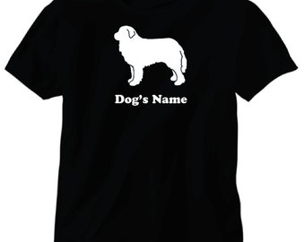 Great Pyrenees Dog Personalized T-Shirt with Dog's Name or Customized with Your Words up to 15