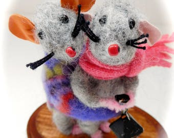 Needle felted mouse - felt mouse - cute mouse - felt mouse -  - Handmade mouse - felt cute mouse - cute little mouse