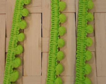 Mini braid tassels green color for customization