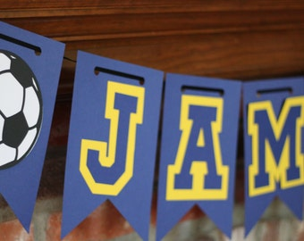 Personalized Soccer Banner for Soccer Birthday, Banquet, or Party, Soccer Banquet, Soccer Party